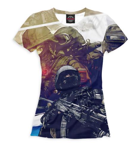 Женская футболка Солдаты