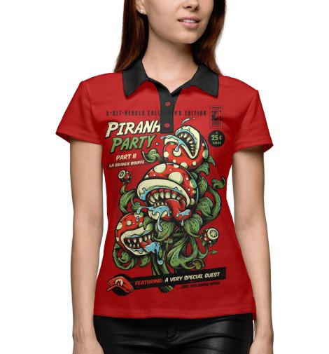 Поло Print Bar Piranha Party кеды piranha кеды