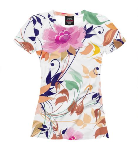 Купить Женская футболка Flower CVE-176600-fut-1