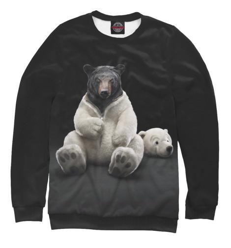 Фото - Женский свитшот Медведь от Print Bar белого цвета