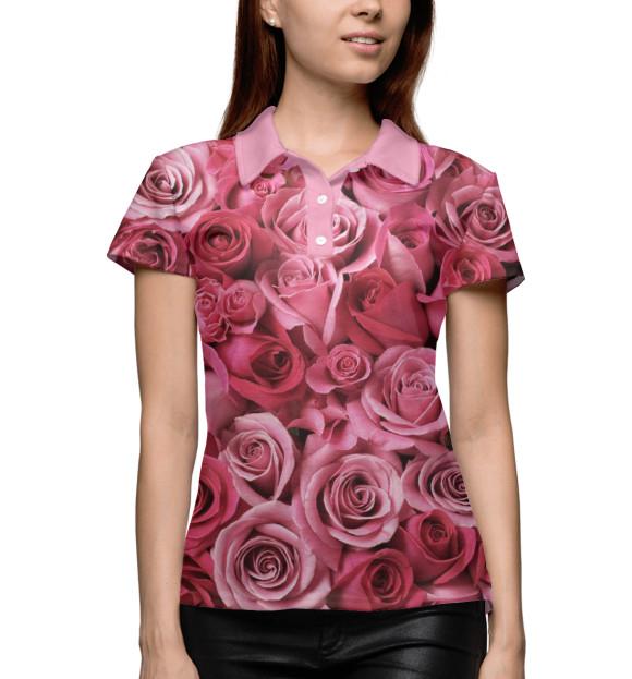 Купить Женское поло Розы CVE-868122-pol-1