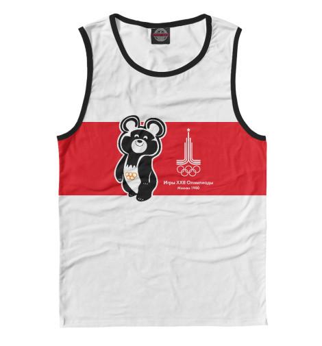 Майка Print Bar Олимпийский мишка и лого олимпиады 1980 года в Москве