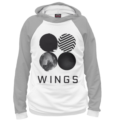 Худи Print Bar Wings BTS 2017 bts live trilogy episode iii the wings tour in seoul release date 2017 11 01