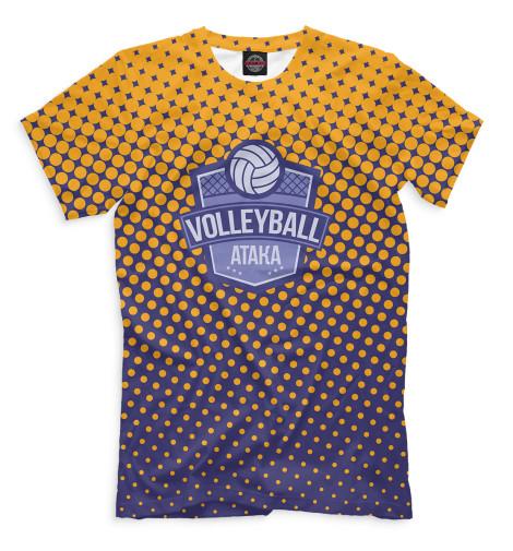 Футболка Print Bar Волейбол — атака женское платье sh cw 1124