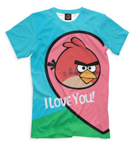 Мужская футболка Angry Birds in love