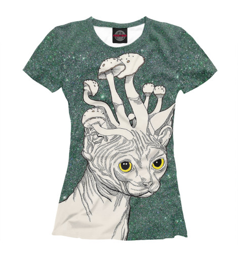 Купить Женская футболка Кот PSY-878957-fut-1