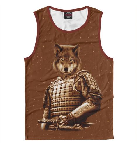 Майка Print Bar Волк самурай футболка print bar волк самурай