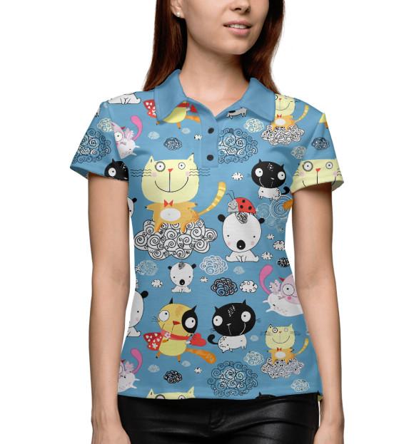 Купить Женское поло Кошечки CAT-535705-pol-1