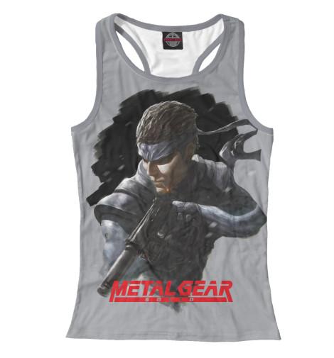 Майка борцовка Print Bar Metal Gear майка борцовка print bar metal mulisha