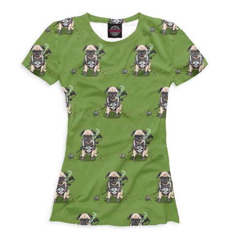 Женская футболка Собаки