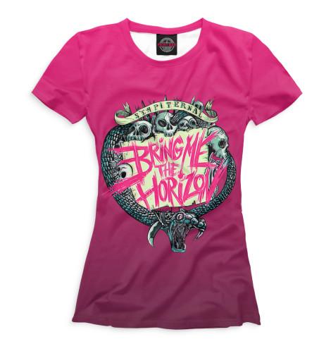 Купить Женская футболка Bring Me the Horizon BRI-565157-fut-1