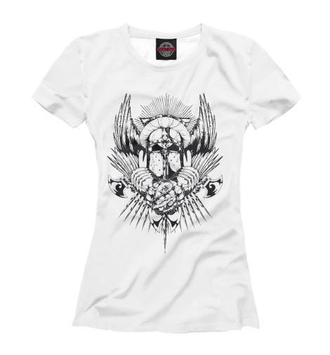 Фото - Женская футболка Knight от Print Bar белого цвета