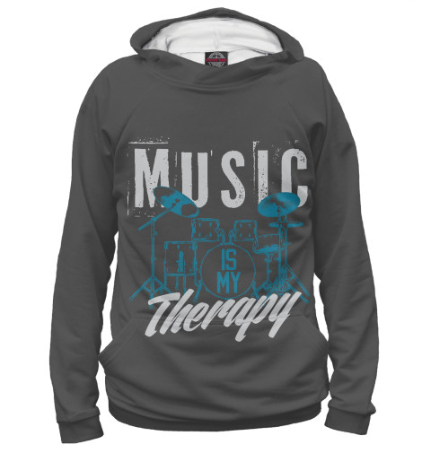 Худи Print Bar Music therapy свитшот print bar music therapy