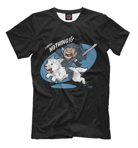 Купить Мужская футболка I Know Nothing IGR-406324-fut-2