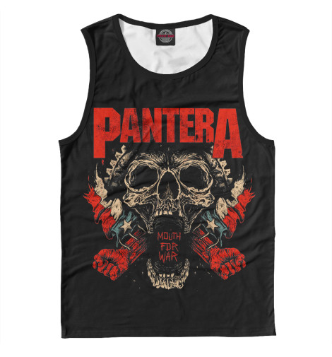 Майка Print Bar Pantera Mouth For War свитшот print bar pantera skull and snake