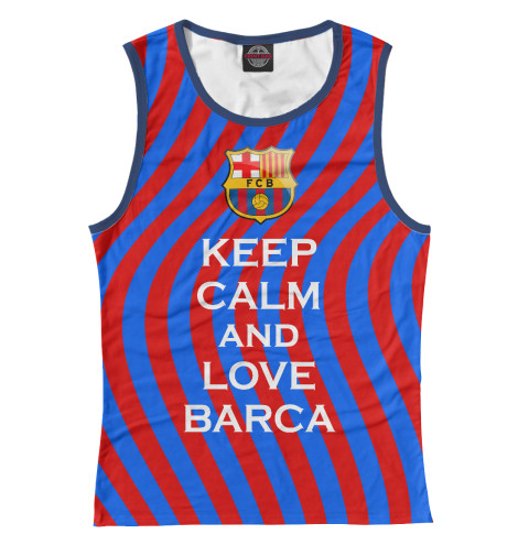 Майка Print Bar Keep Calm and Love Barca футболка wearcraft premium printio keep calm and manezhka green