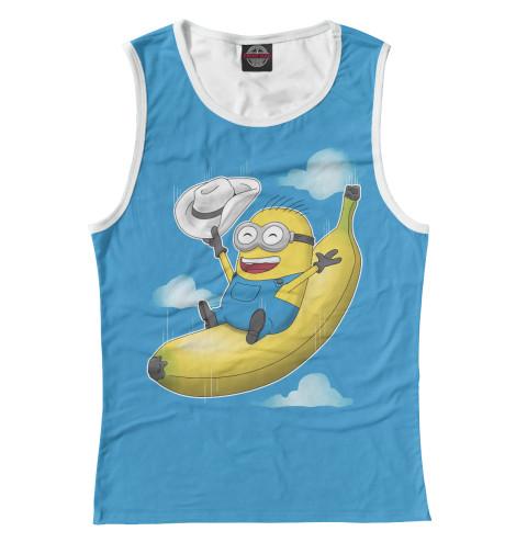 Купить Женская майка Миньон на банане MIN-523679-may-1