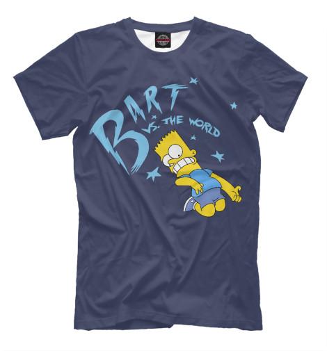 Футболка Print Bar Bart vs The World футболка print bar bart bones