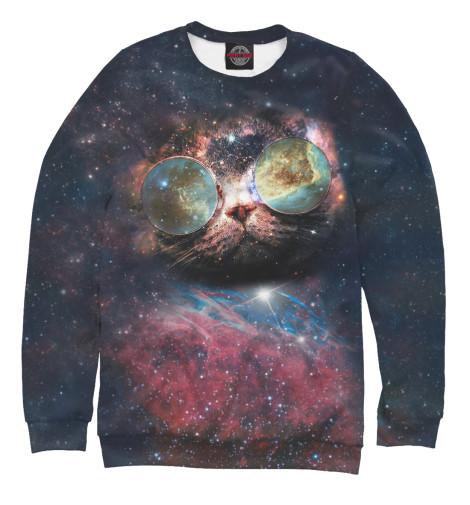 Свитшот Print Bar Космический кот женское пальто 2014
