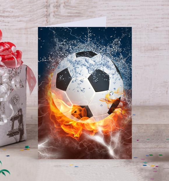 Как, футбол открытка