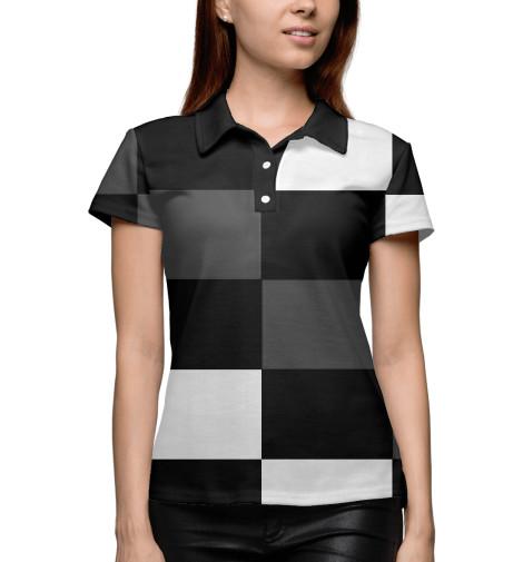 цена  Поло Print Bar Шахматная клетка  онлайн в 2017 году