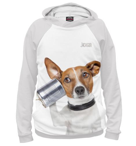 Худи Print Bar Джек-рассел слюнявчик printio джек рассел собака