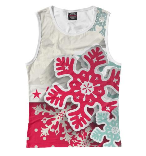 Майка Print Bar Снежинки костюм маленькой снежинки 32