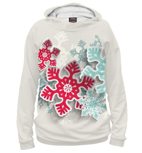 Худи Print Bar Объёмные снежинки костюм маленькой снежинки 32