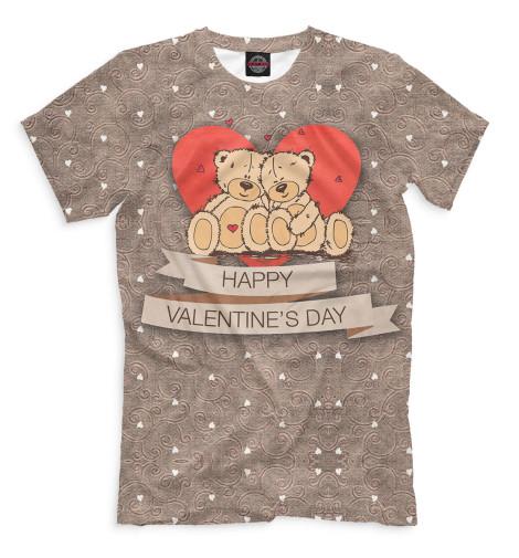Мужская футболка Happy Valentine's Day