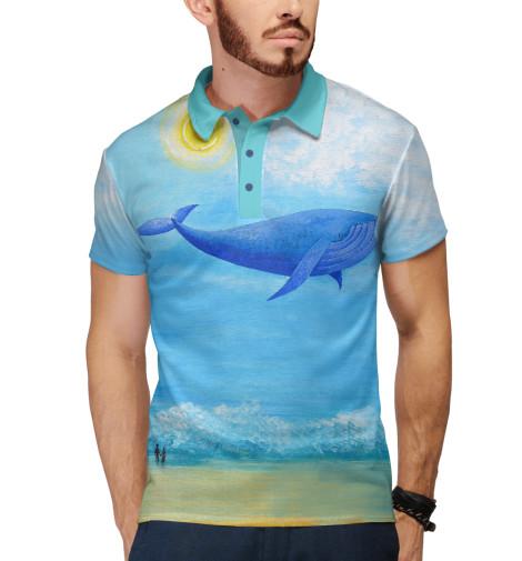 Поло Print Bar Синий кит