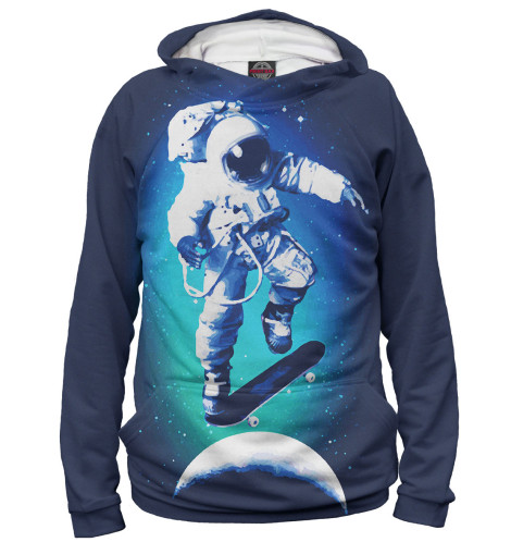 Худи Print Bar Космонавт-скейтер майка борцовка print bar космонавт скейтер