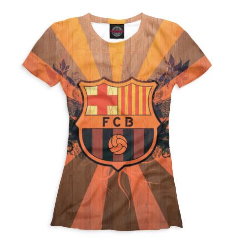 Женская футболка FCB герб