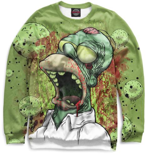 Мужской свитшот Гомер-зомби
