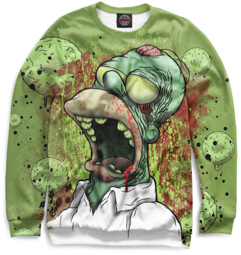 Женский свитшот Гомер-зомби