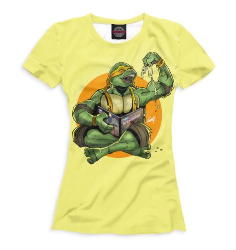 Женская футболка Микеланджело