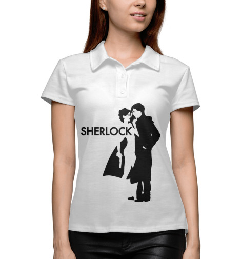 Поло Print Bar Шерлок - Sherlock майка классическая printio шерлок холмс sherlock