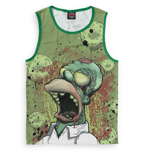 Мужская майка Гомер-зомби
