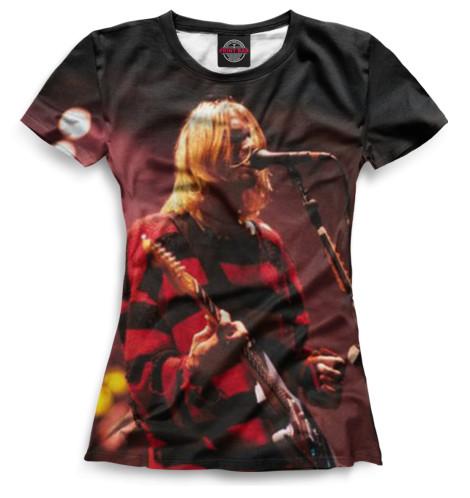 Женская футболка Kurt Cobain