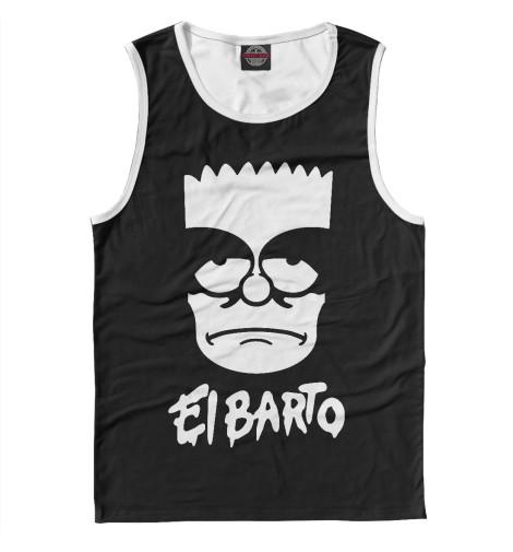 Майка Print Bar El Barto туфли el tempo el tempo el072awvsd40
