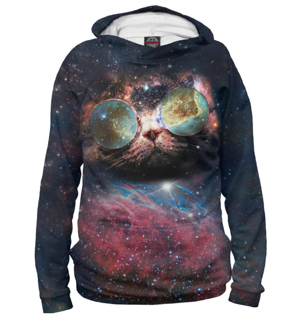 Купить Мужское худи Космический кот HIP-102262-hud-2