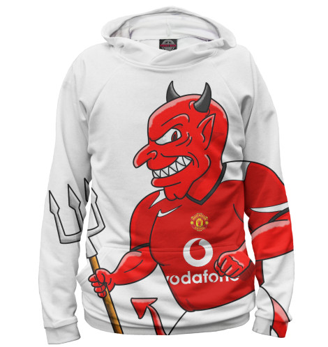 Женское худи Manchester United Красный дьявол