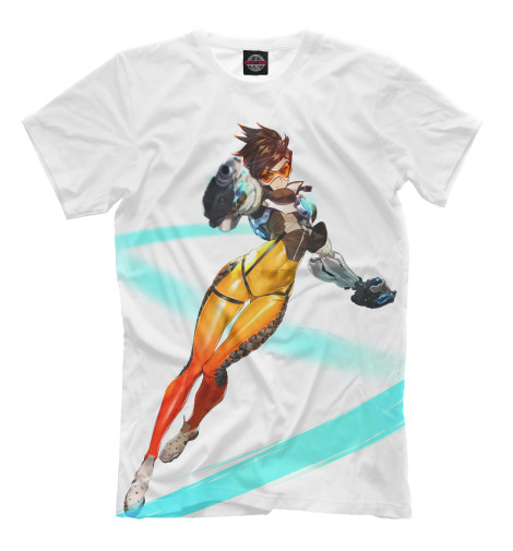 Футболка Print Bar Overwatch Tracer футболка wearcraft premium slim fit printio overwatch tracer