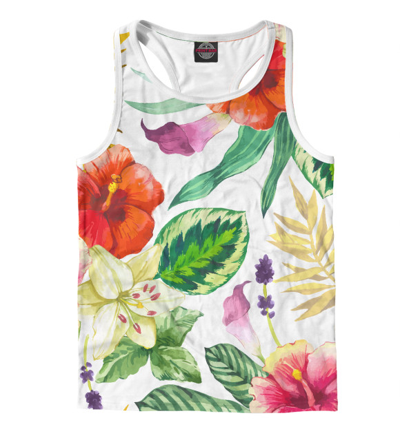 Купить Мужская майка-борцовка ЦВЕТЫ цветы CVE-270295-mayb-2
