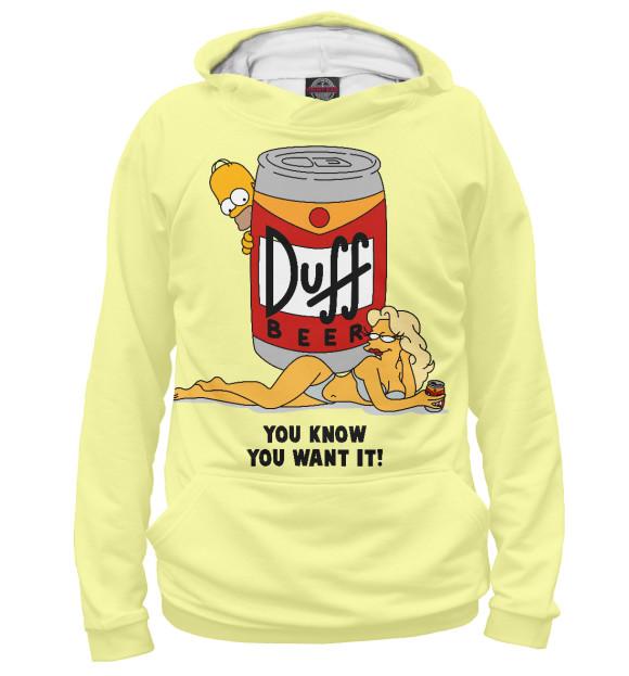 Купить Женское худи Пиво Duff SIM-847113-hud-1