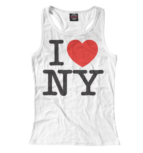 Майка борцовка Print Bar I Love New York dkny love from new york for women где