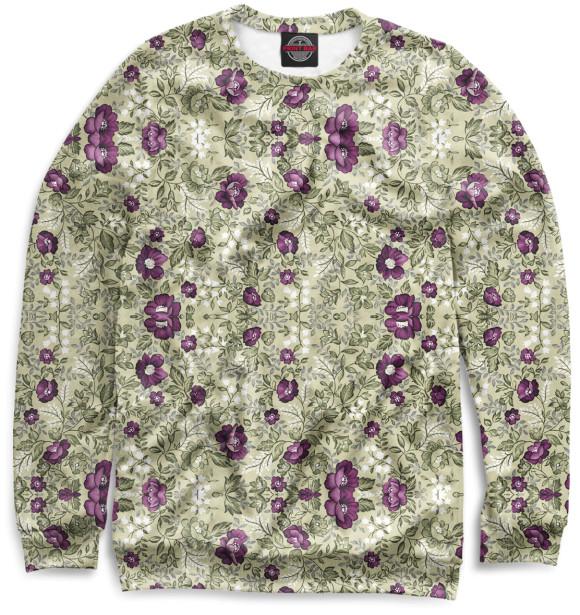 Купить Свитшот для девочек Цветы CVE-602171-swi-1