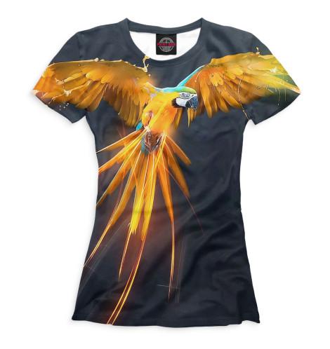 Женская футболка Попугай