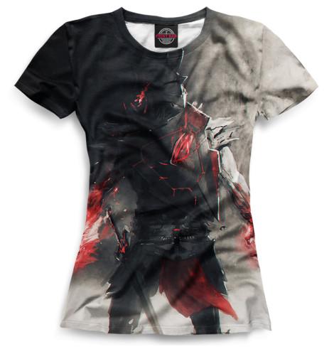 Женская футболка Воин