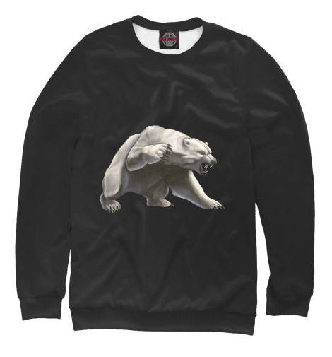 Свитшот Print Bar Белый медведь свитшот print bar медведь вдв