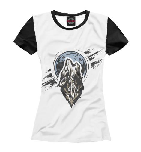 Футболка Print Bar Волк воет футболка print bar волк тотем